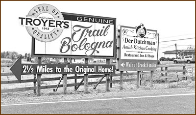 Troyer's Genuine Trail Bologna Sign