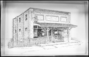 Troyer's Genuine Trail Bologna Store Sketch